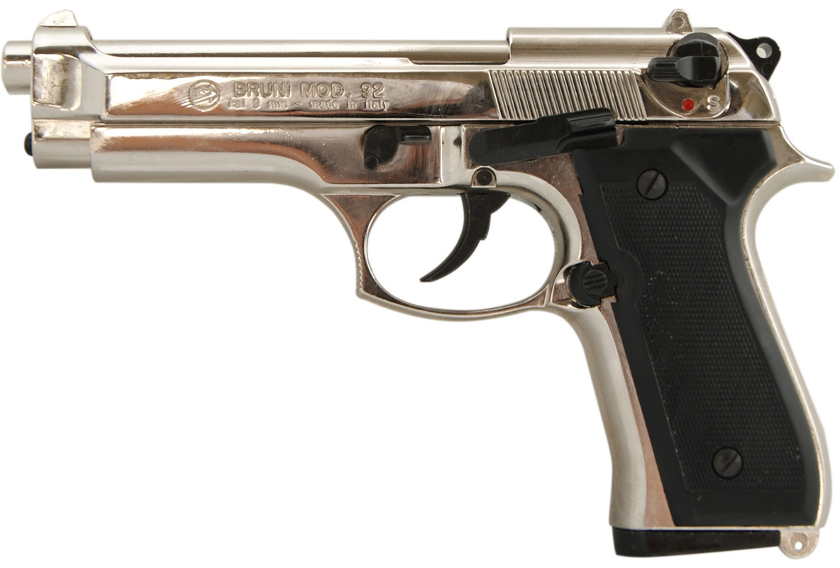 Pistolet gazowy Bruni 92 chrom kal.9mm