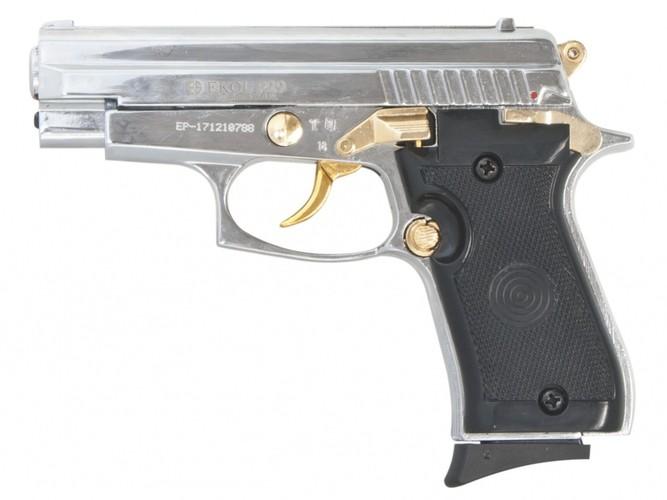 Pistolet gazowy Ekol P29 chrom gold z ryciną kal.9mm