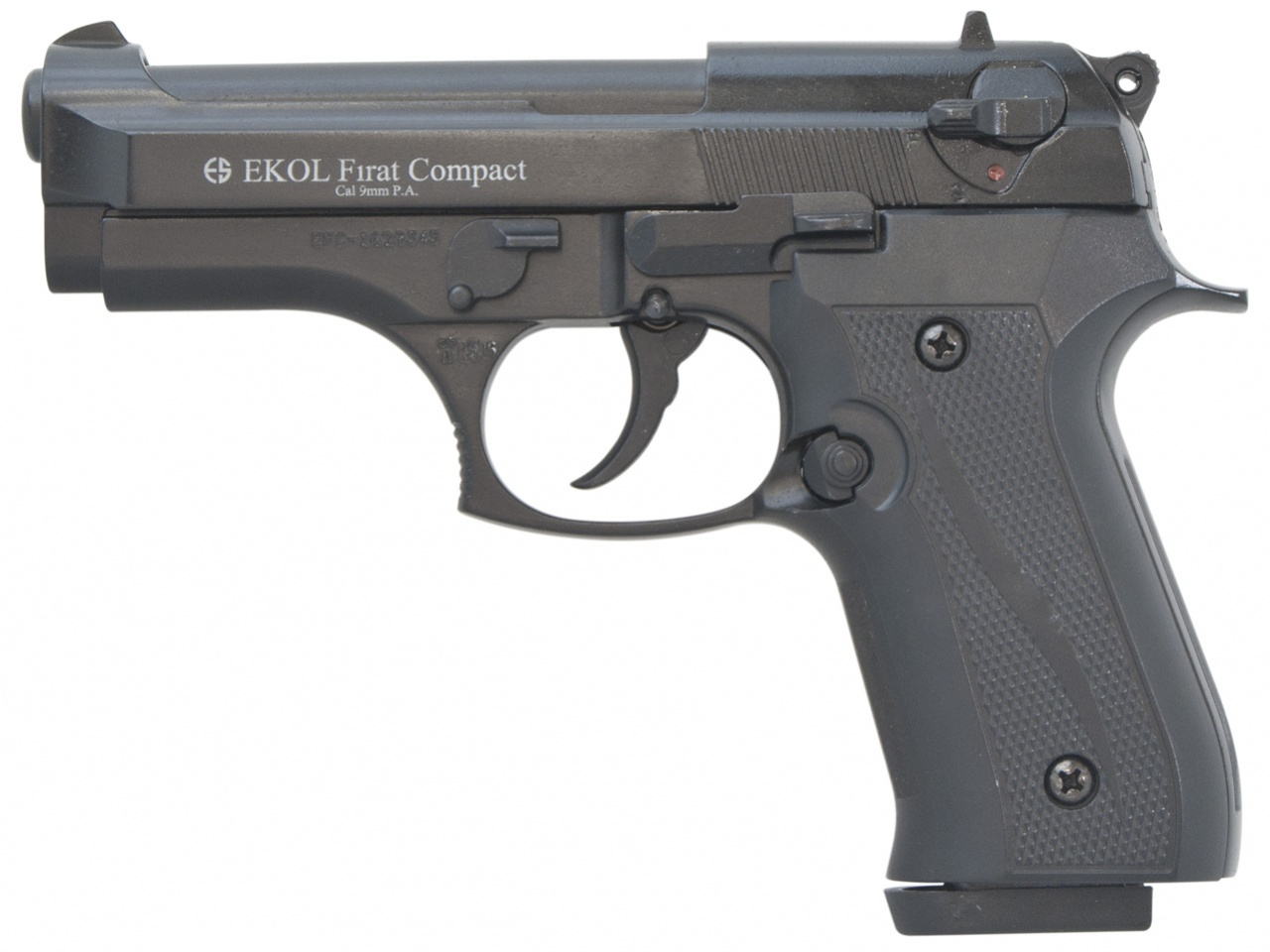 Pistolet gazowy Ekol Firat Compact czarny kal.9mm