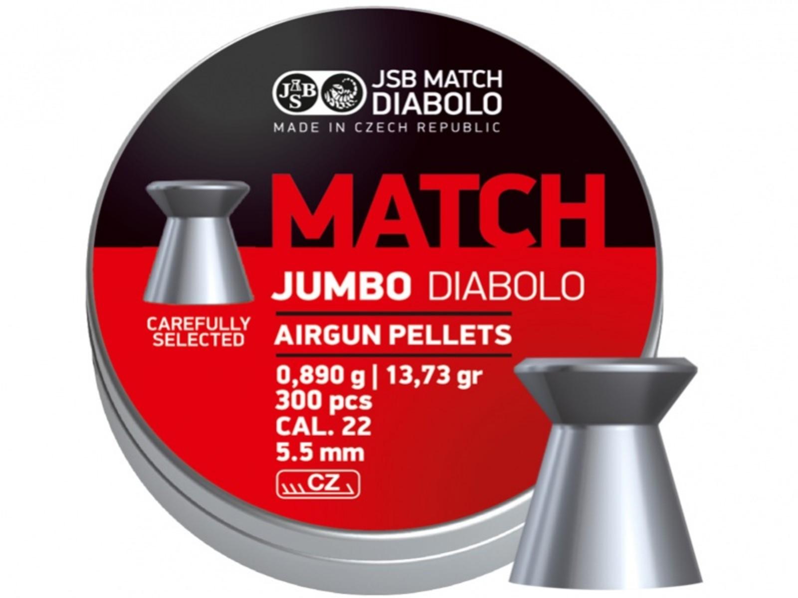 Śrut JSB Jumbo Match 300sztuk kal.5,5mm