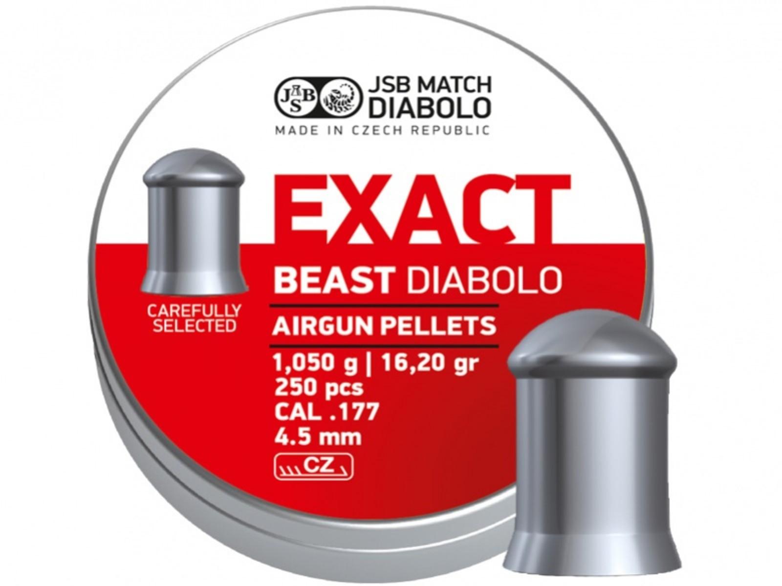 Śrut JSB Exact Beast 250sztuk kal.4,5mm