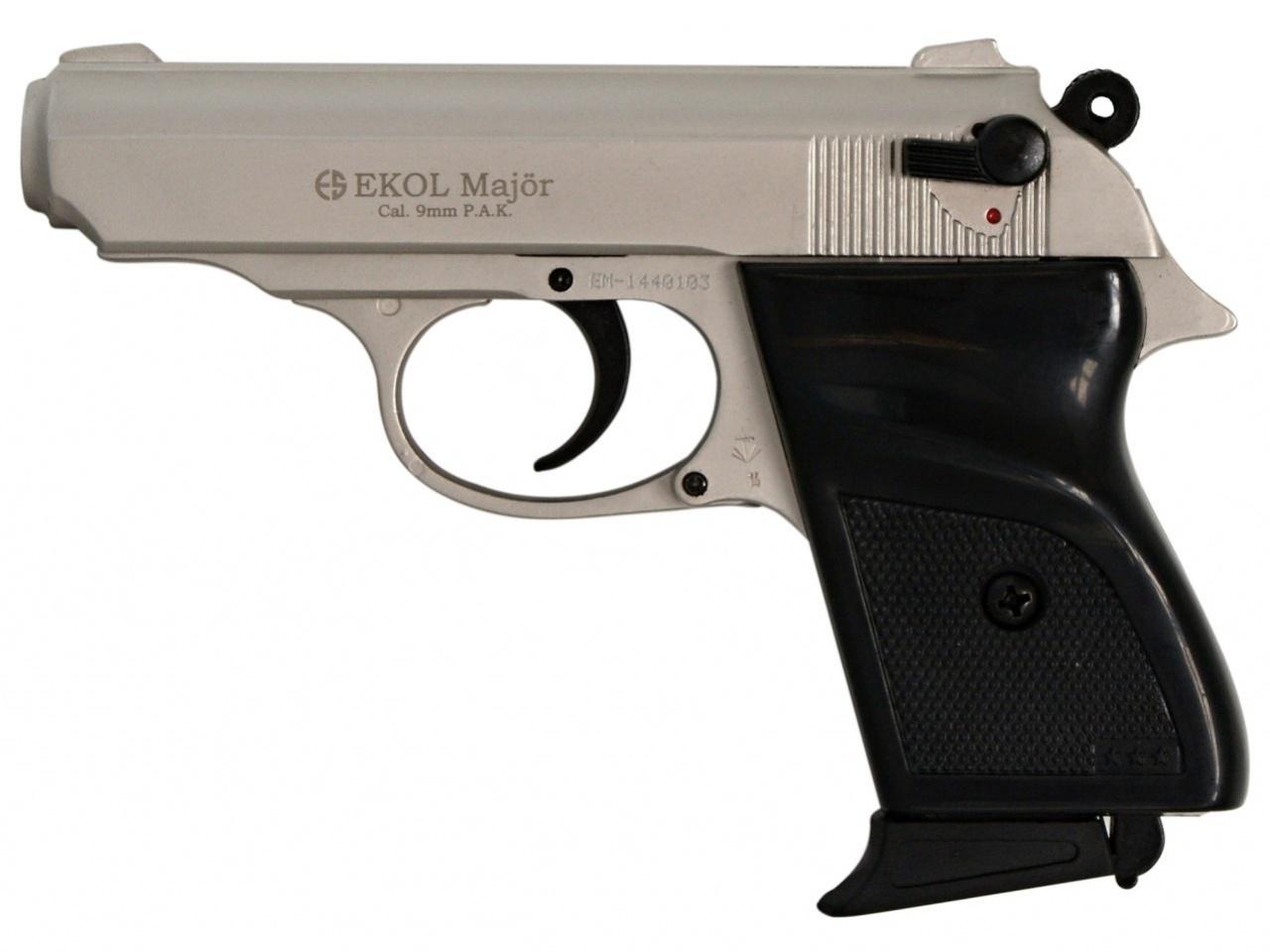 Pistolet gazowy Ekol Major satyn nikiel kal.9mm