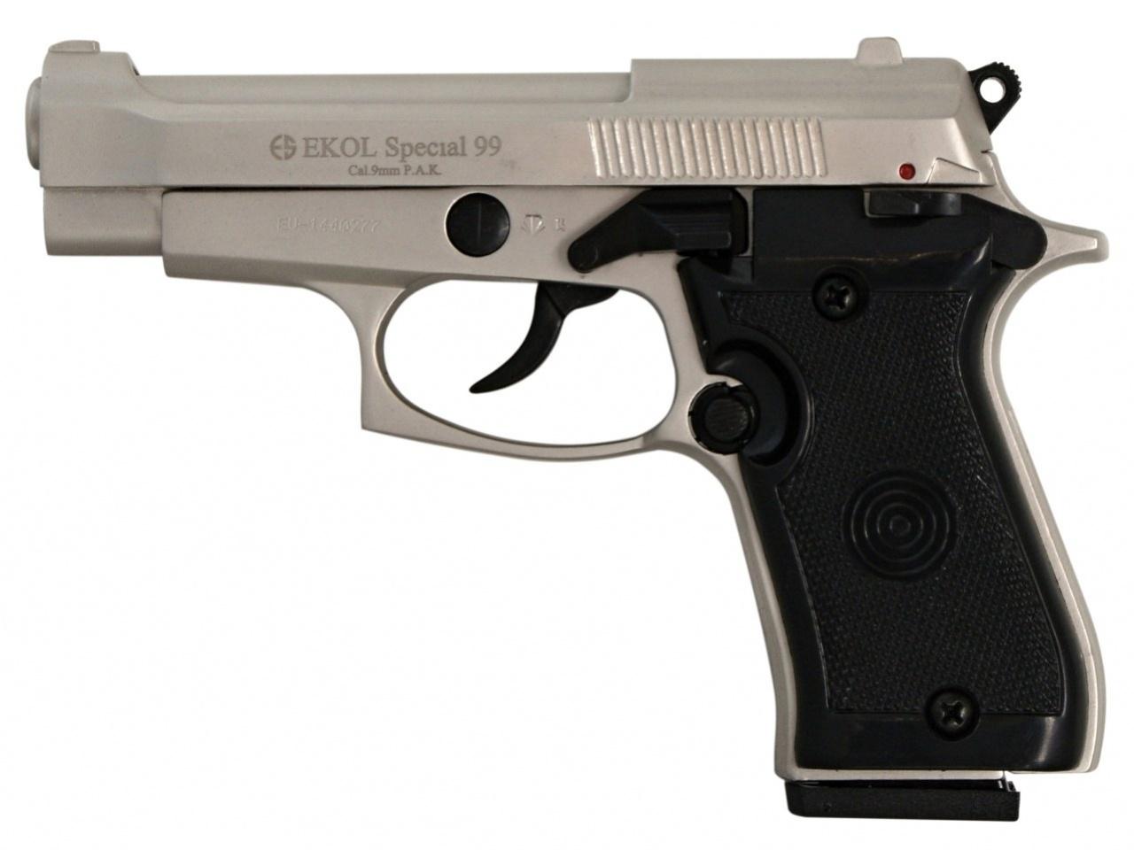 Pistolet gazowy Ekol Special 99 satyn nikiel kal.9mm
