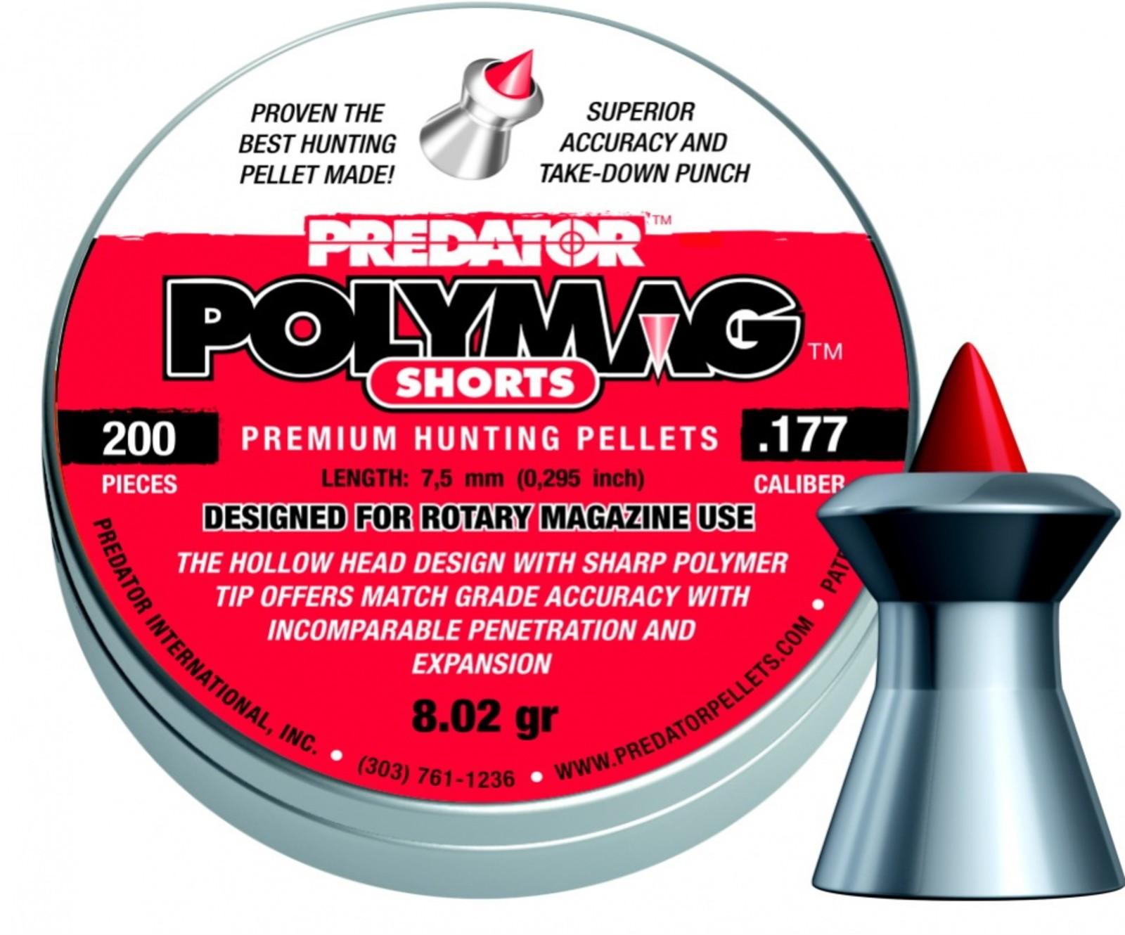 Diabolo JSB Predator PolyMag Shorts 200szt. kal.4,5mm