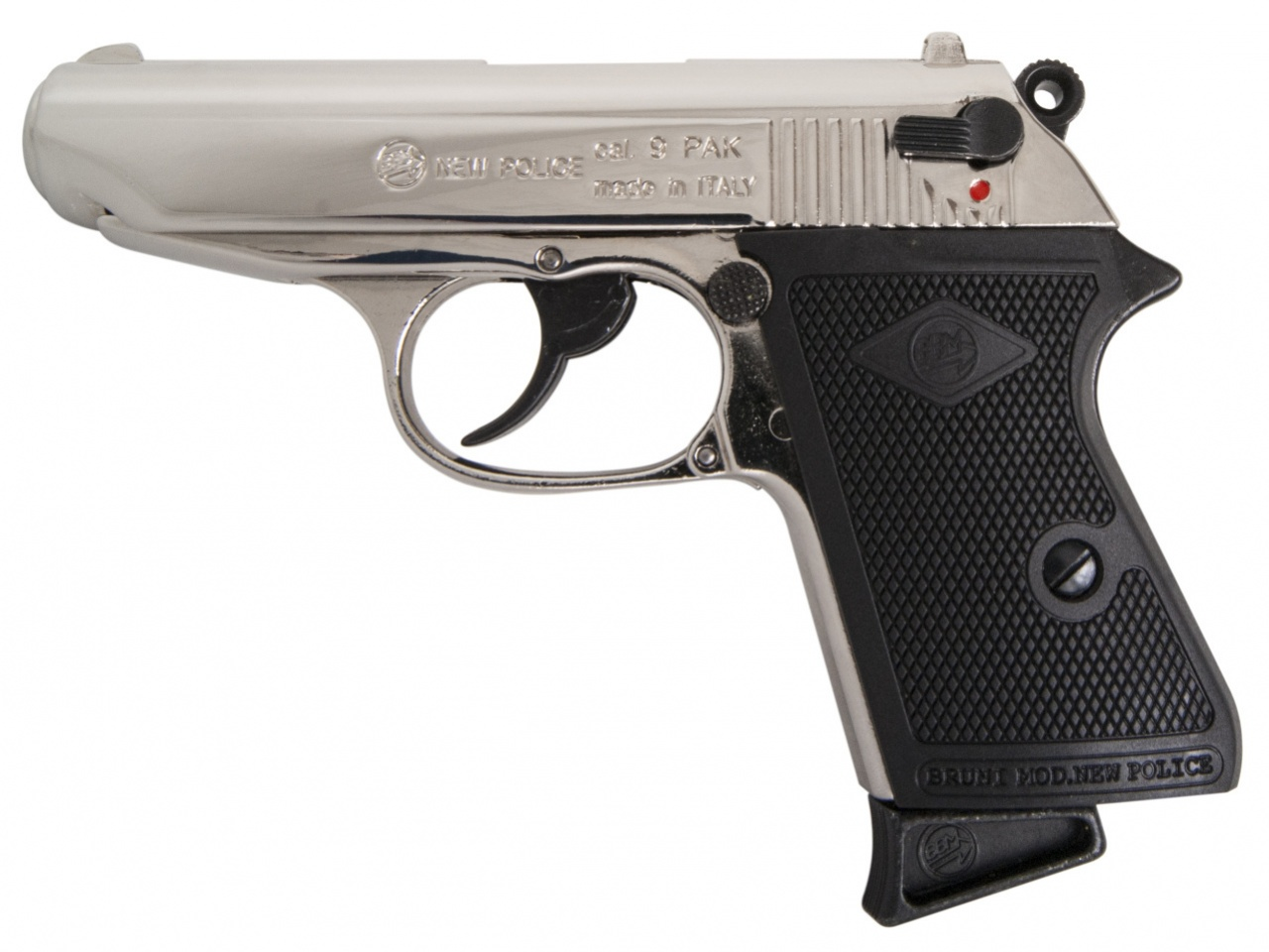 Pistolet gazowy Bruni New Police chrom kal. 9mm