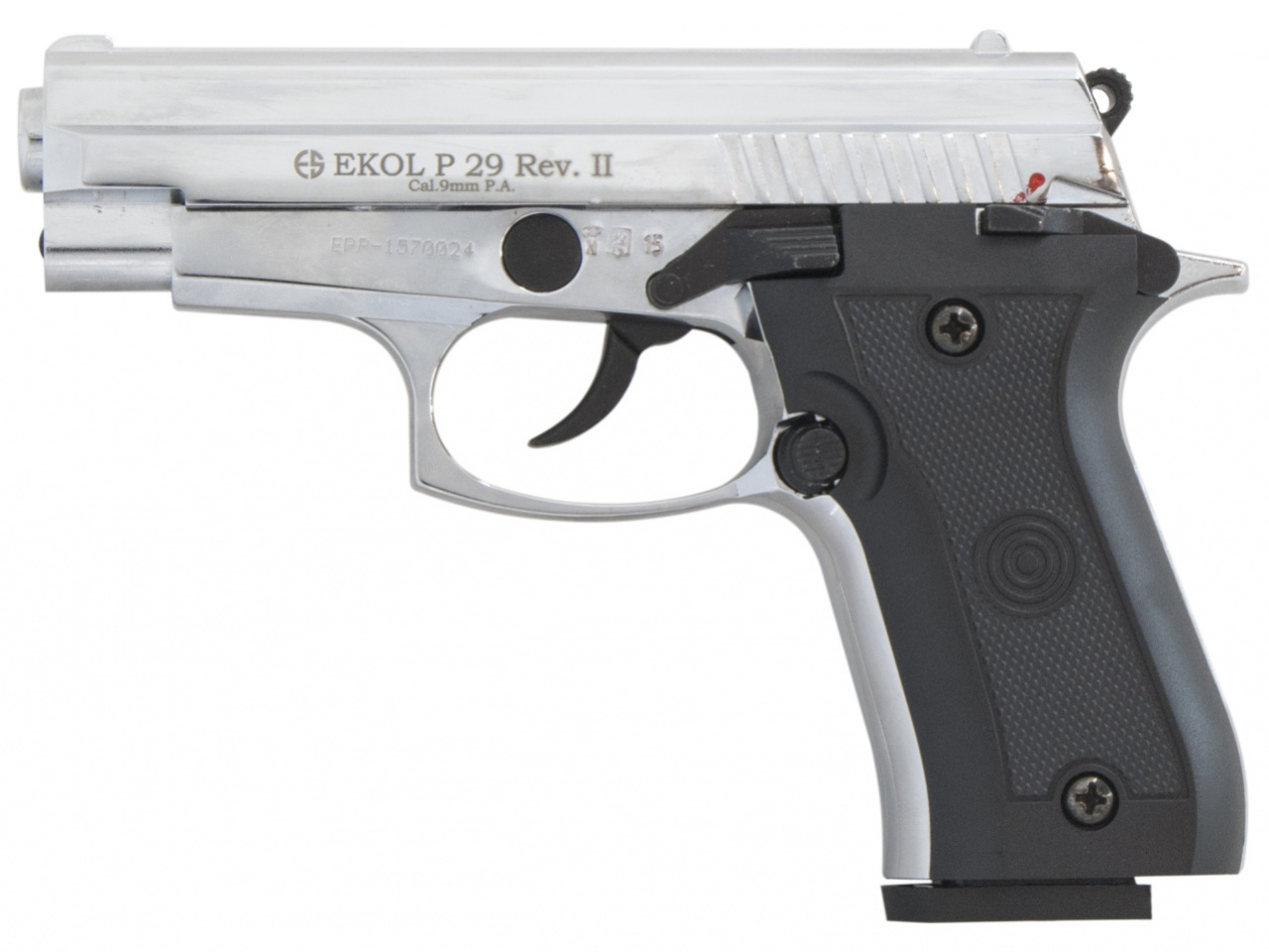 Pistolet gazowy Ekol P29 REV II chrom kal.9mm