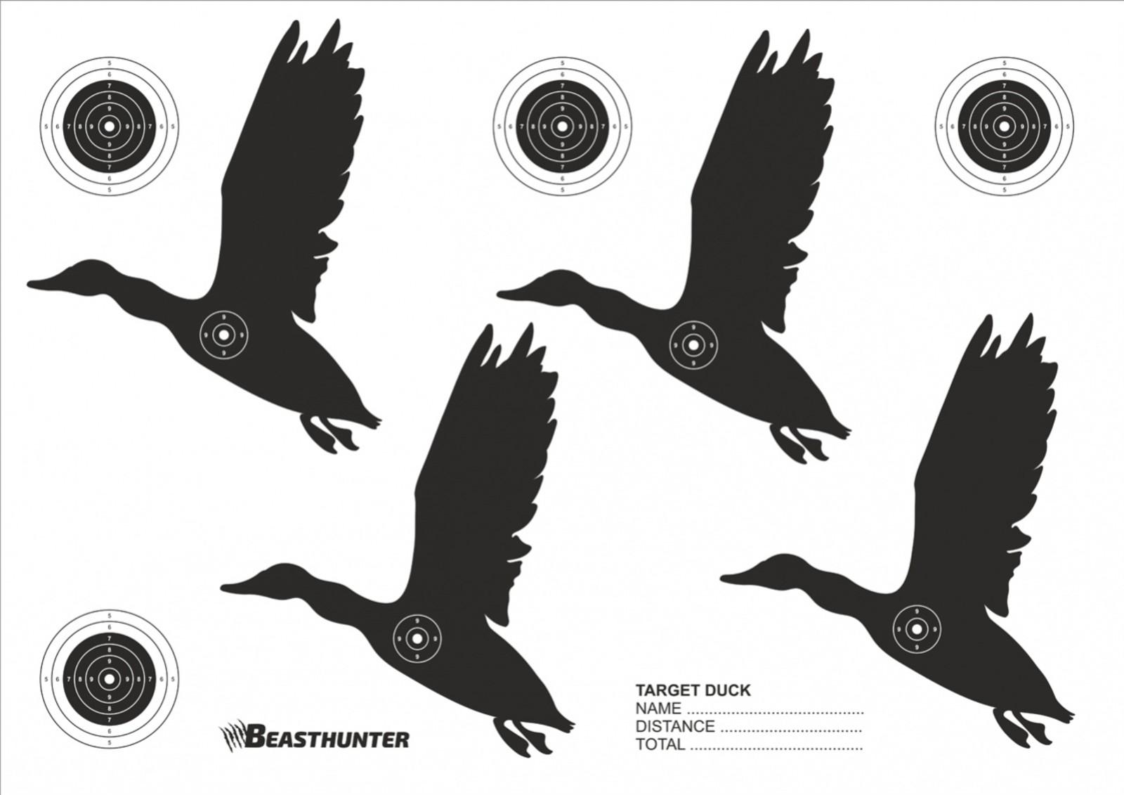 Tarcze sylwetkowe Beast Hunter Duck 10szt.