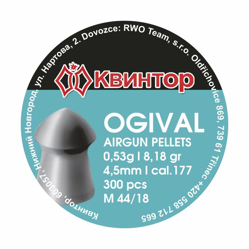 Diabolo Kvintor Ogival cal.4,5mm 300ks